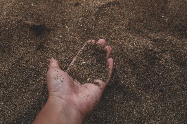 hand full of soil