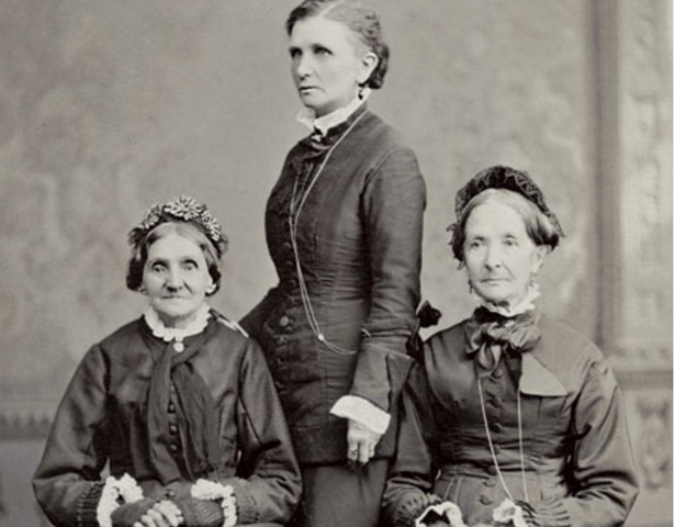 Elizabeth Ann Whitney, Emmeline B. Wells, and Eliza R. Snow (left to right).